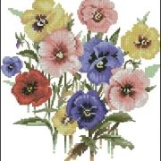 Heritage Valerie Pfeiffer Posies VPPP699 Pansy Posy